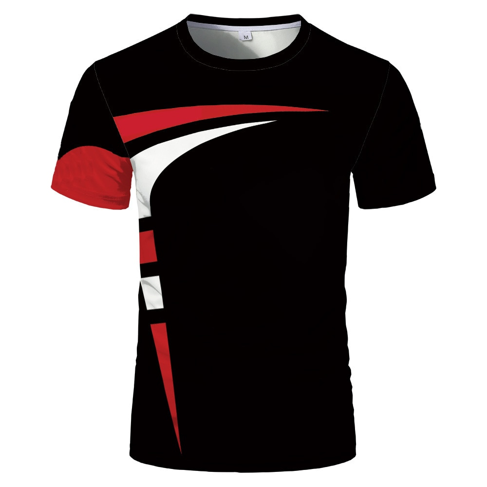 Fashion new 3D printing summer hot sale short-sleeved round neck men and women same sports T-shirt
