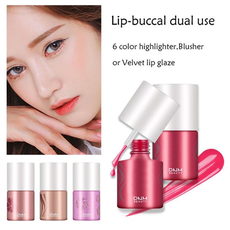 DNM nouveau multifonctionnel lèvre-Buccal double usage liquide Sexy peinture à lèvres Rouge à lèvres longue durée antiadhésive tasse brillant à lèvres Rouge TSLM1