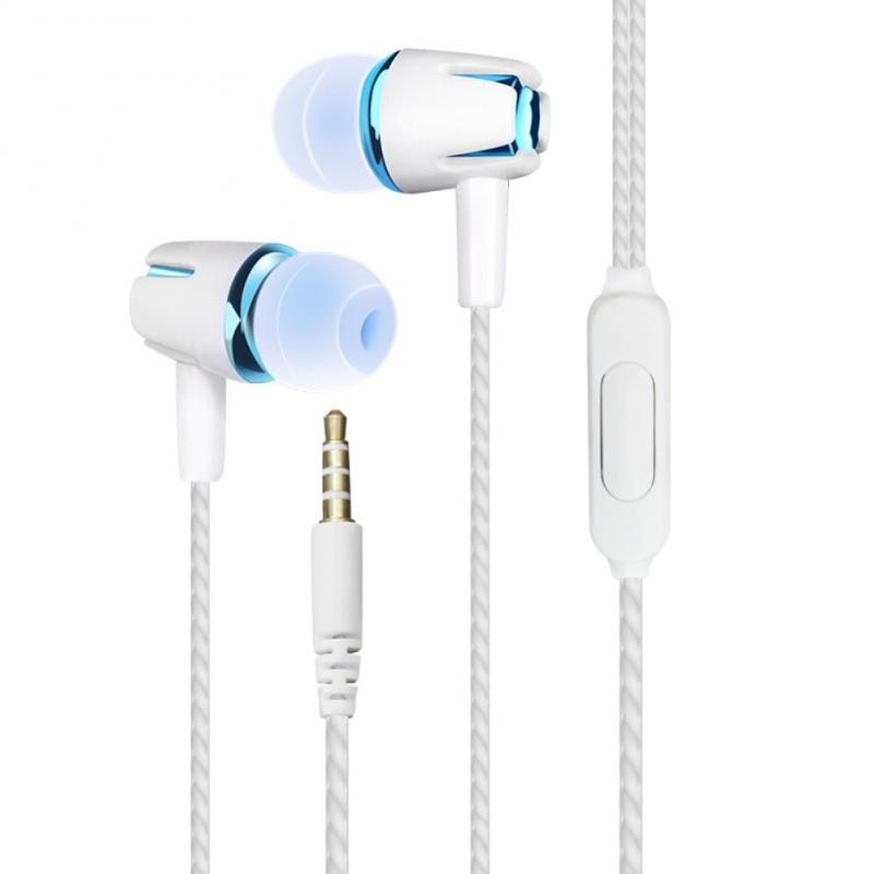In-Ear Headphones wired control Mini Portable 3.5mm Single In-ear Stereo Earphone Line Control Music Headphone Wired headset