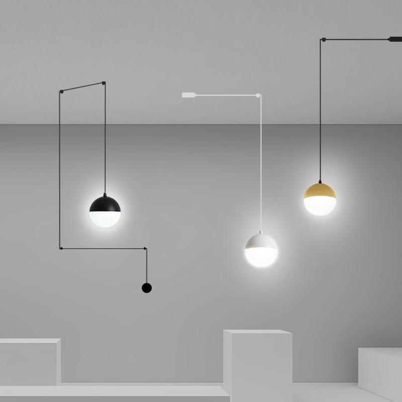 2020 جديد الاكريليك الكرة قلادة أضواء DYI بساطتها الحديثة قلادة led مصابيح لغرفة المعيشة الطعام ديكور معلق ضوء 9 واط