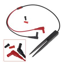 1PC SMT SMD Chip Resistance Test Clip Grip Lead Probe Multimeter Meter Capacitor Tweezer