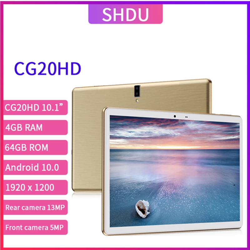 New 13MP Tablet Pc 10.1 inch Android 10.0 Tablets 64GB ROM Octa Core Google Play 3g 4g LTE Phone Call GPS WiFi Bluetooth 10 inch