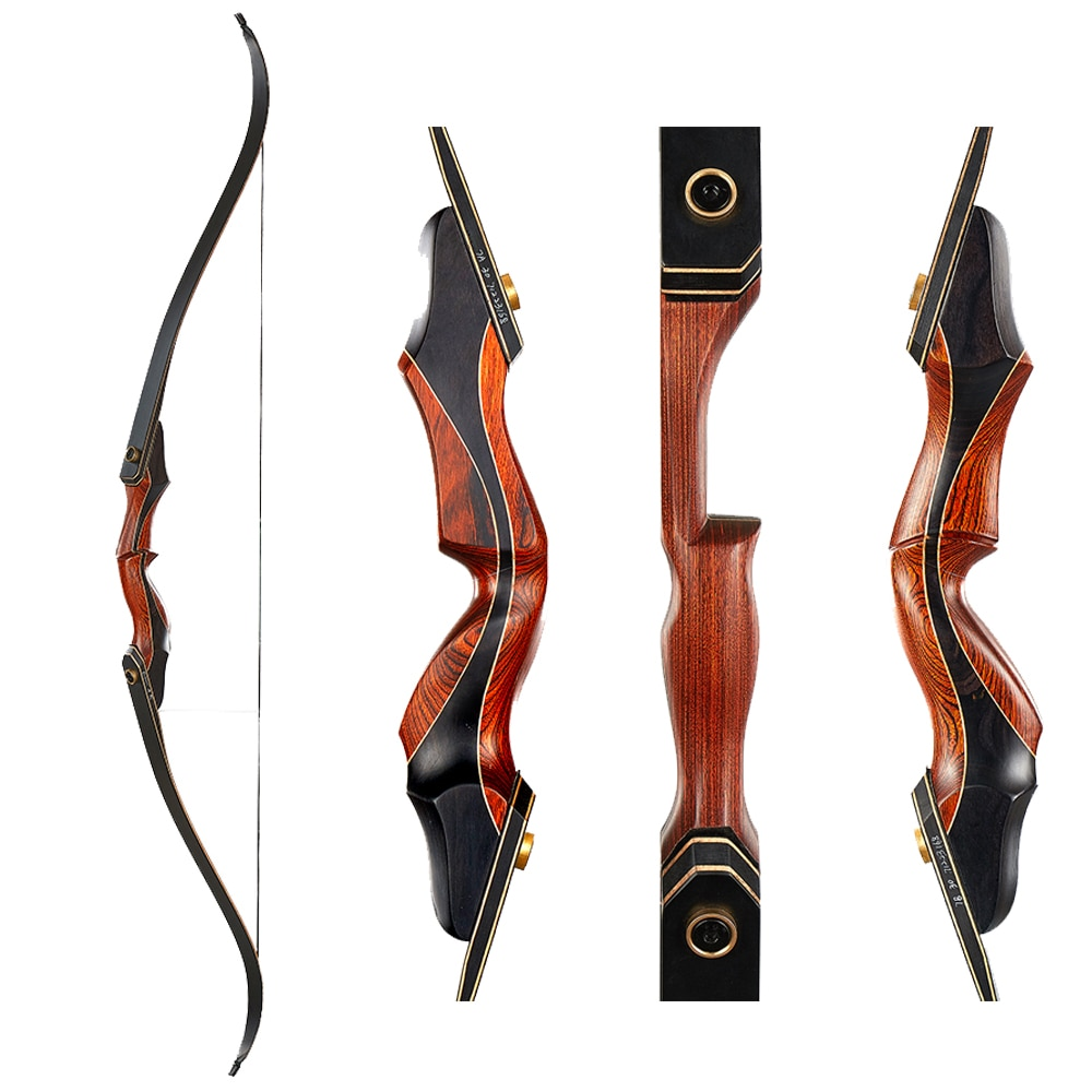Archery Bow Take-down Bow Hunting Recurve Bow for Right-handed Adult Outdoor Shooting Practice Bow 30-50Ibs
