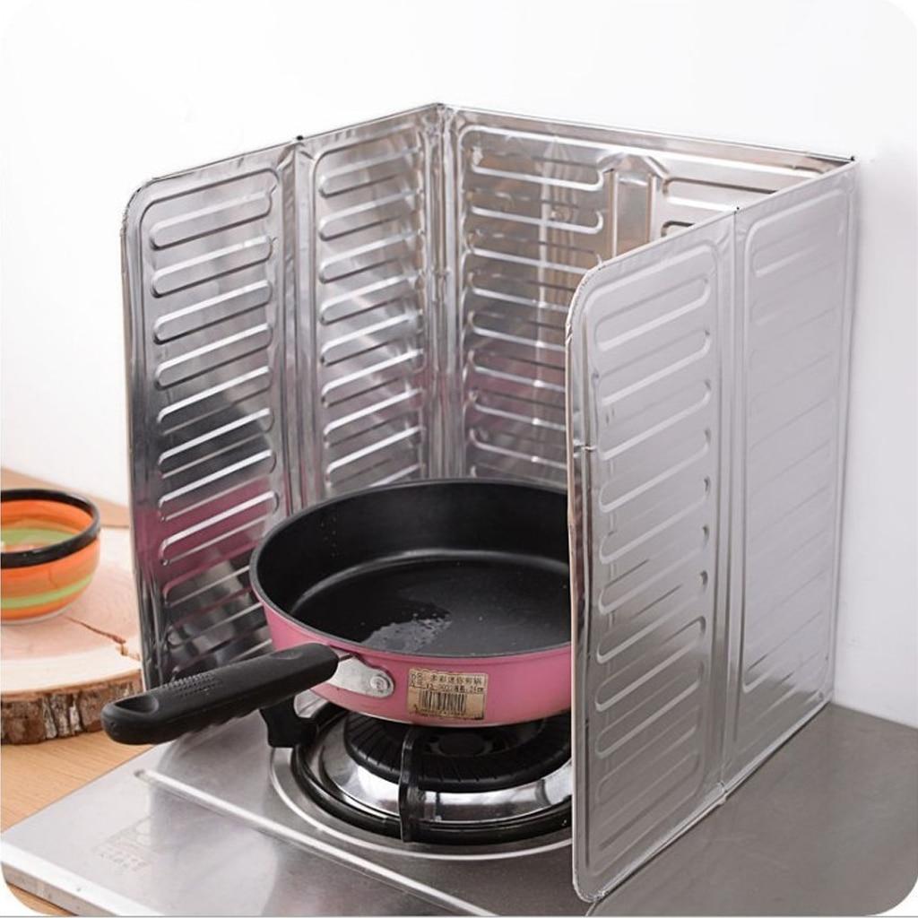 Складная Защитная перегородка для защиты от брызг масла брызгозащищенный инструмент для перегородки кухонная приготовление пищи Жарка Пан экран от масляных брызг крышка газовая плита