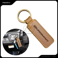 motorcycle keychain motocross cowhide key ring fits for suzuki burgman 200 400 abs scooter