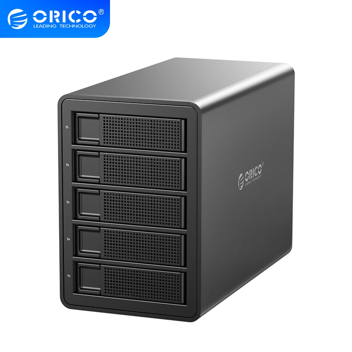 ORICO 35 Series 5 Bay HDD Docking Station 80TB With Dual Chip 150W Built-in Power Hard Drive Case For 2.5 3.5 Inch Hard Drive