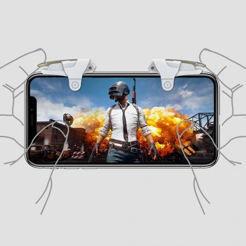 SLILE 1 Pair L1 R1 Mobile Phone Custom Gaming Trigger Controller Shooter Fire Button Handle For PUBG Mobile Rules Of Survival