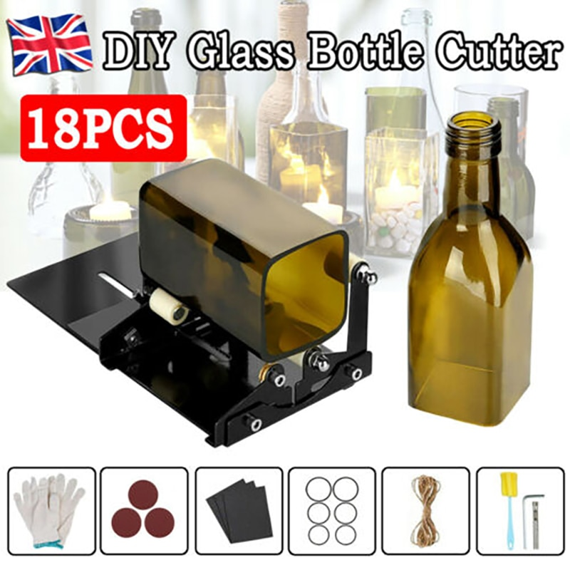Glass Cutter Glass Bottle Cutter Cutting Tool Square and Round Wine Beer Glass Sculptures Cutter for DIY Glass Cutting Machine