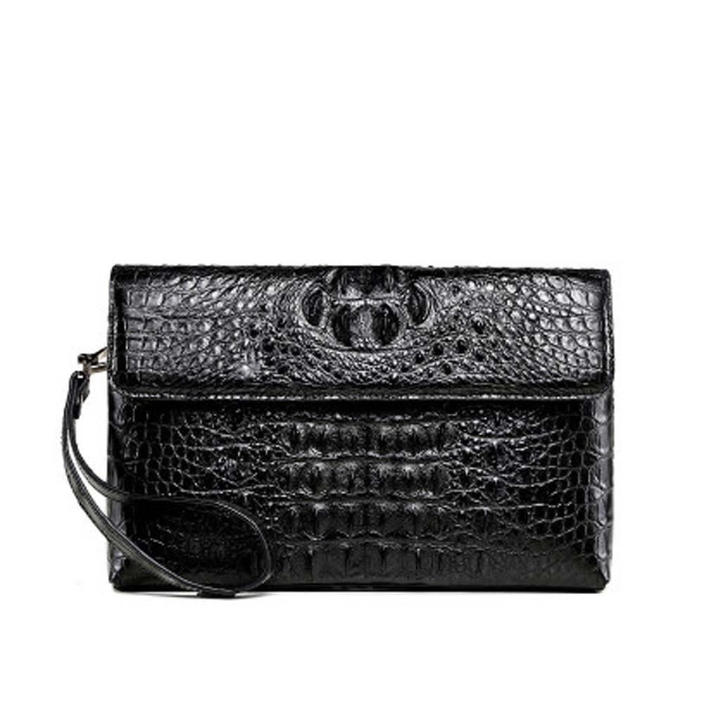 xingmengda new men crocodile leather men clutch bag black men wallet male bag large capacity  business  long bag
