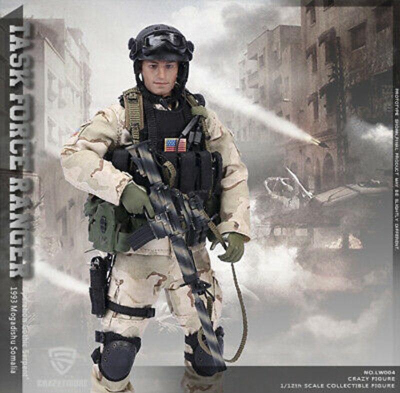 Louco Figura 1/12th LW004 SFOD Task Force Ranger 1993 Somália Sagitário Figura