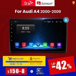 Junsun v1 android 10.0 dsp carplay rádio do carro multimídia player de vídeo estéreo automático gps para audi a4 b6 2000-2009 s4 rs4 2 din dvd