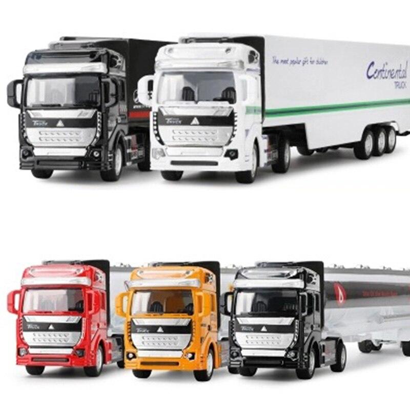 Vehículos de juguete y fundición de alta simulación, contenedor de diseño de coche, camión de aleación, modelo de camión, regalo para niños, juguetes extraíbles