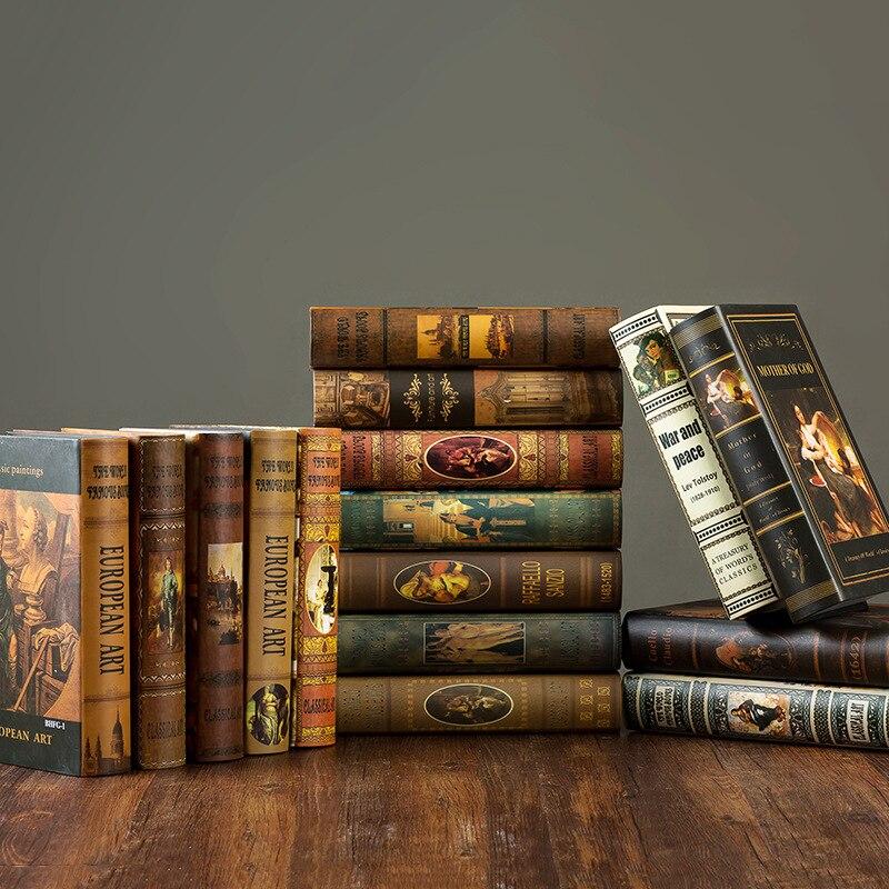 Поддельные книги, декоративные книги, американский Ностальгический декоративный реквизит, модели книг, предметы интерьера, украшения Кофейни