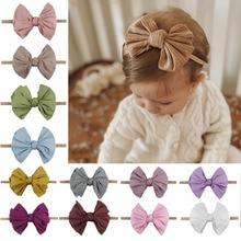 New Baby Girls Elastic Bow Headband Fashion Hair Bows Knot Nylon Hair Bands Newborn Toddler Kids Headwear Hair Accessories
