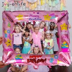 Фоторамка с днем рождения, фольга, воздушные шары, реквизит для фотографий, Globos, украшения для дня рождения, для детей, для взрослых, для маленьких мальчиков и девочек, баллон