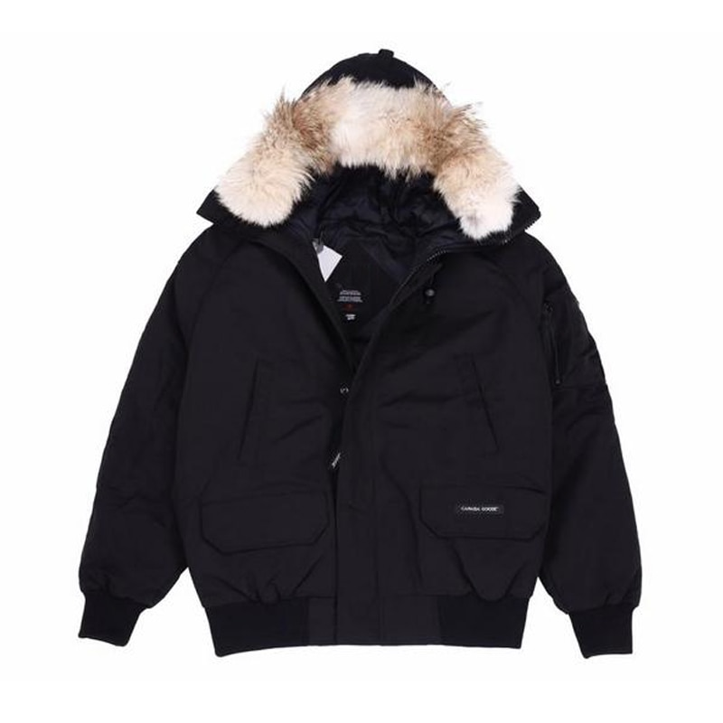 High-end men's classic fur coat waterproof Wyndham Parka coat with Royal Coyote fur winter down coat
