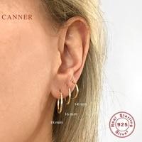 Автоклав серьги для женщин 925 стерлингового серебра в форме круга Кнопка Ins модные серьги-кольца ювелирные изделия, на возраст 12, 14, 16, 18 мм