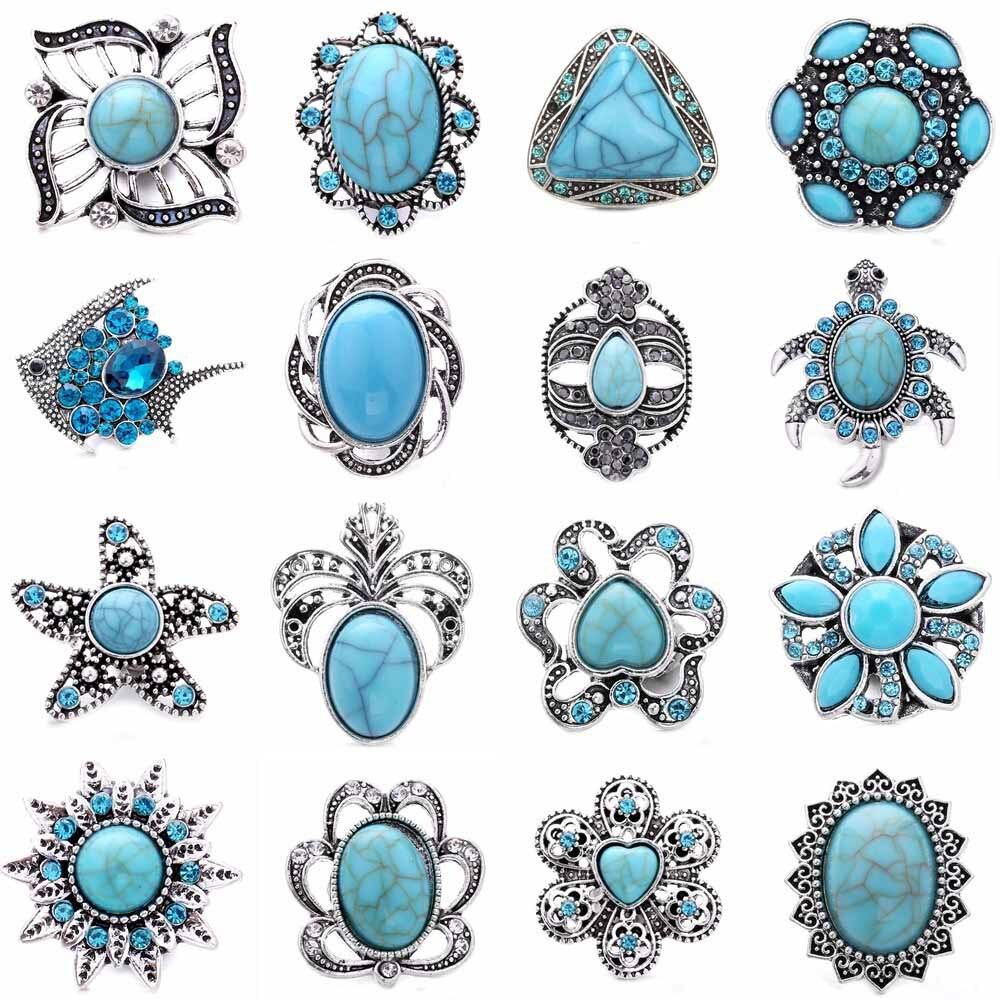 5 sztuk/partia nowy w stylu Vintage Snap przyciski biżuteria koraliki kwiat 18mm Metal Snap przyciski Fit 18mm przystawki naszyjnik dla kobiet biżuteria