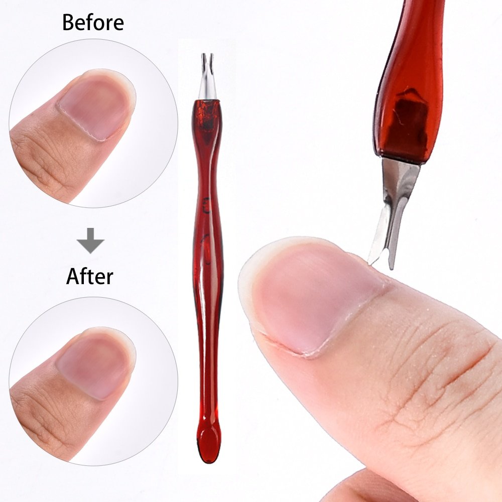 2pcs  Dead Skin Remover Nail Art Fork Cuticle Remover Nipper Pusher Trimmer Stainless Steel Pedicure Nails Care Nail Tools недорого