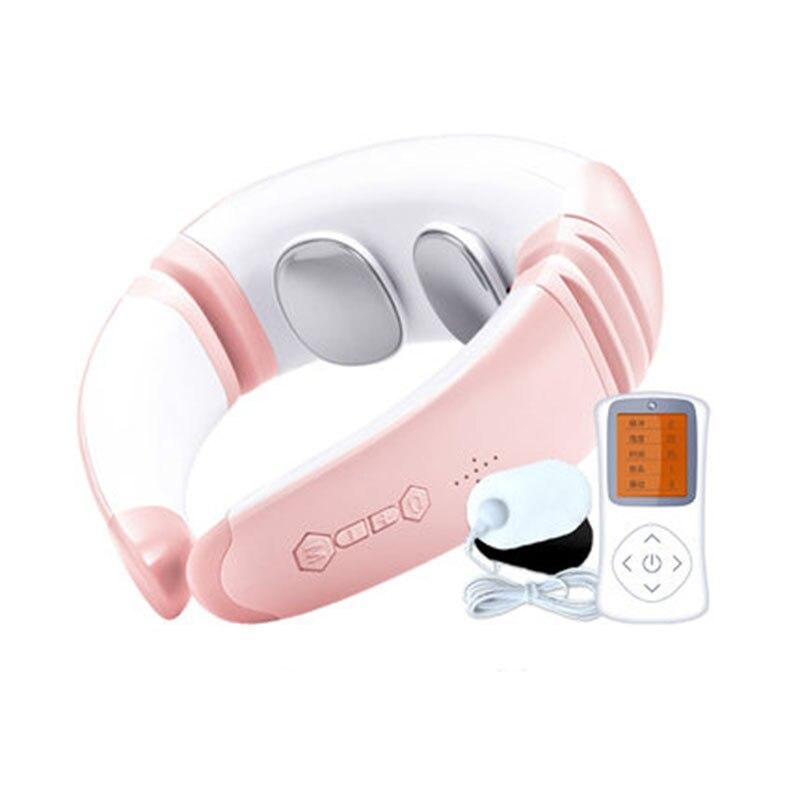 Masajeador de cuello eléctrico, terapia magnética infrarroja, pequeño, portátil, para exteriores, hogar, oficina, botón de pulso, instrumento para amasar