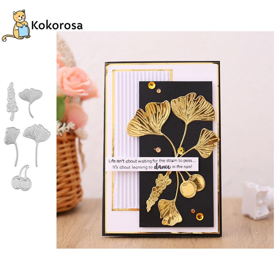 Kokorosa, troqueles de corte de Metal de hoja de arce, planta para Diy, álbum de tarjetas, álbum de recortes, Techo troqueles para manualidades, proveedor de estampado, novedad