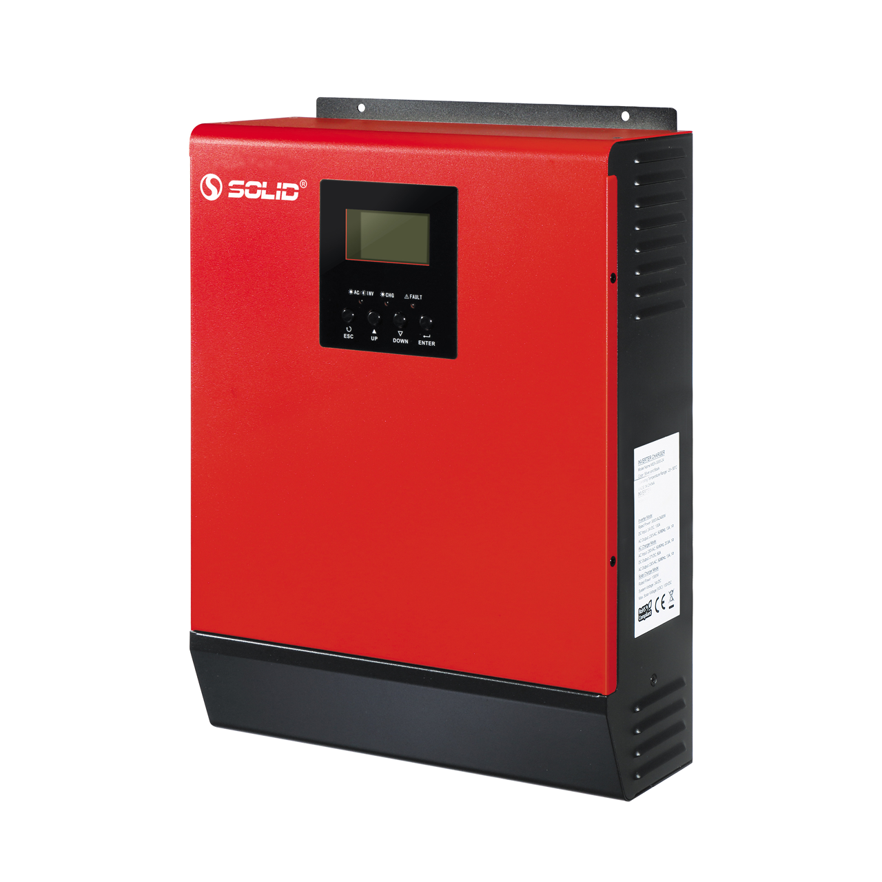 SOLID 800W 1000VA 1000w 1000 watt 1 kva 1200 watt 1kw 1 kw off grid hybrid solar inverter price with MPPT charge controller