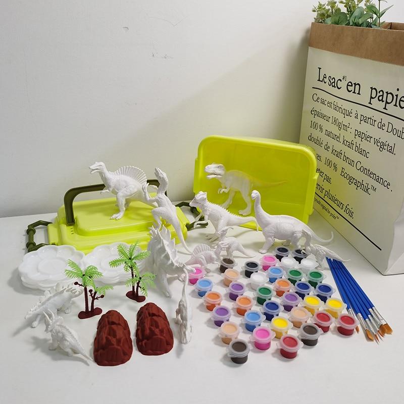 Модель динозавра для гаража, спальни, набор для моделирования, украшение для гаража, рабочего стола, детский 3D-рисунок динозавра «сделай сам...