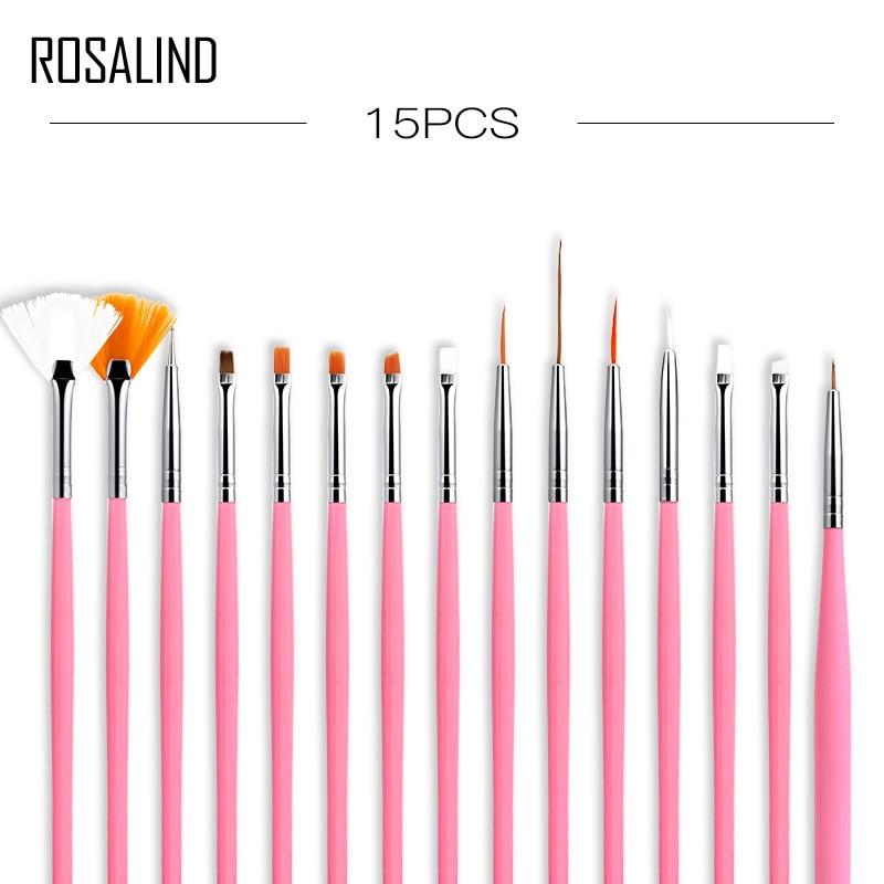 ROSALIND, juego de pinceles para esmalte de uñas, herramientas rosas, bolígrafo para pintar en Gel, pincel para uñas, pincel para pintar con puntos, bolígrafo para dibujar, arte de uñas