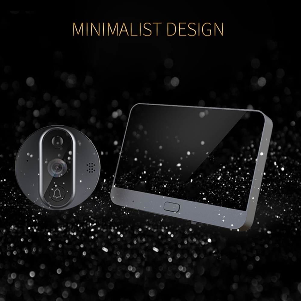 4.3 Inch Doorbell Wifi Smart Visual Cat Eye Electronic Cat Eye Door Mirror with Photo Taking Function for Home Security Alarm Sy enlarge