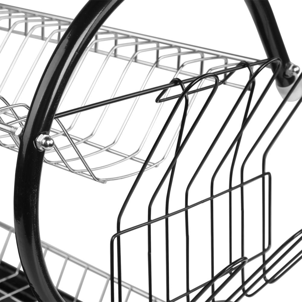 Купить с кэшбэком Multifunctional S-shaped Dual Layers Bowls & Dishes & Chopsticks & Spoons Collection Shelf Dish Drainer