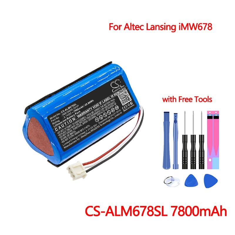 Batería de altavoz CS-ALM678SL para Altec Lansing iMW678, iMW678-BLK, reemplazo de iMW678-BLU...