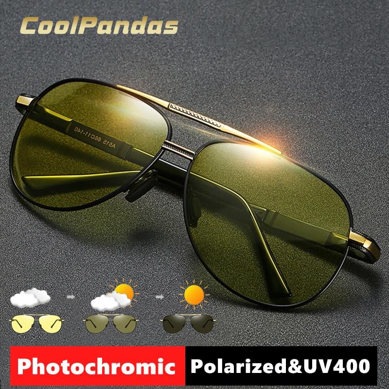Gafas de sol de piloto para hombre y mujer, lentes fotocromáticas polarizadas...
