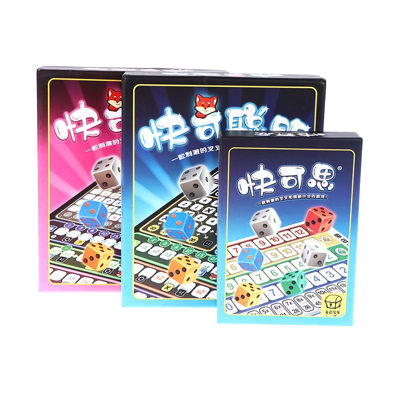 Board Game Cards Game Qwixx Party Games board role-playing games Child Leisure Time Party Indoor Games Props