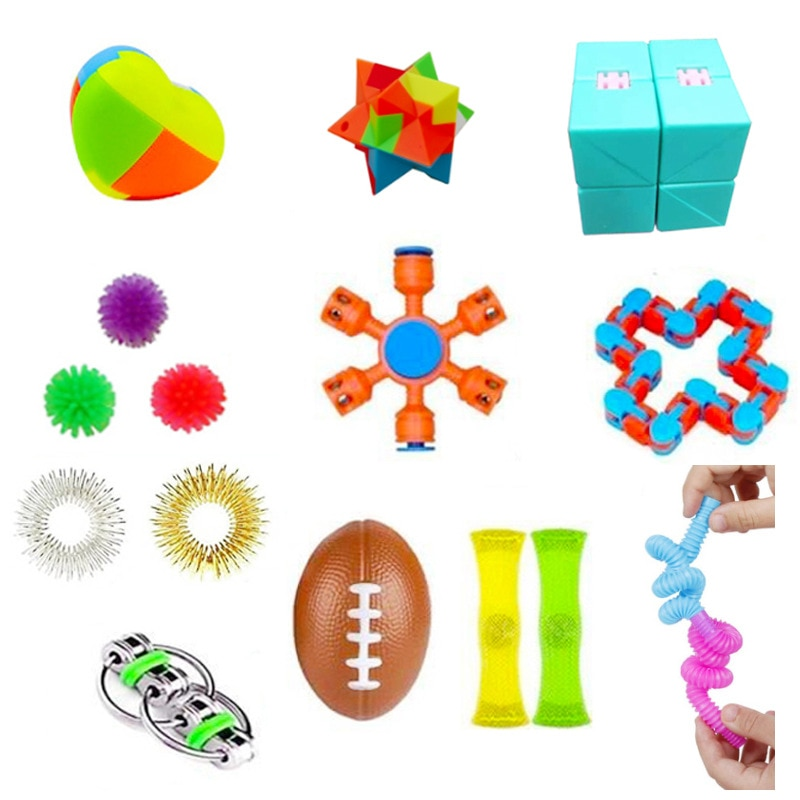 COLOQY 1 Fidget Toys Pop it Sensory Antistress Toy Pack Squishy Squish mallow Decompression Stress Reliever Toy For Adults Kids enlarge