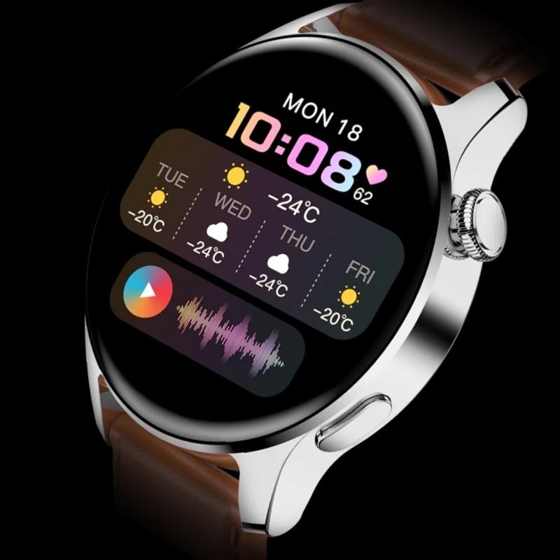 2021 جديد لهواوي ساعة ذكية الرجال مقاوم للماء الرياضة اللياقة البدنية تعقب الطقس عرض بلوتوث دعوة Smartwatch ل أندرويد IOS