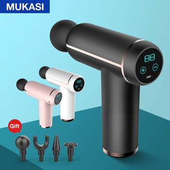 MUKASI LCD Display Muscle Massage Gun Portable Neck Muscle Massager Pain Therapy for Body Massage Relaxation Pain Relief