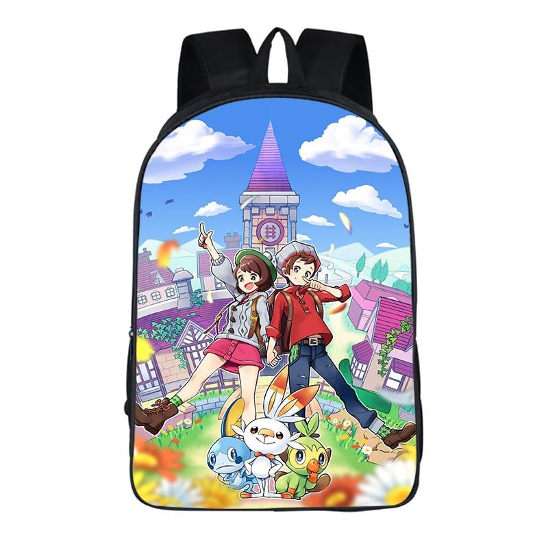 Nueva mochila Pikachu niños niñas moda bolsa Pokemon regalo sorpresa bolsas escolares hermosa mochila escolar para alumnos