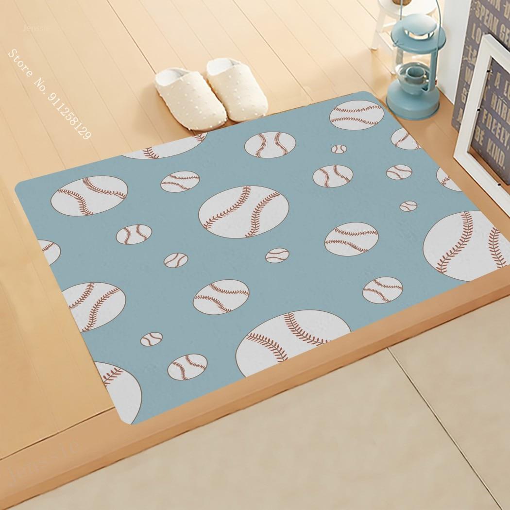 Football Doormat Funny Sport Doormat 3D Print For Bedroom Carpet Entrance Outdoor Floor Rug For Living Room Floor Mat Decoration dolphins playing print nonslip floor rug