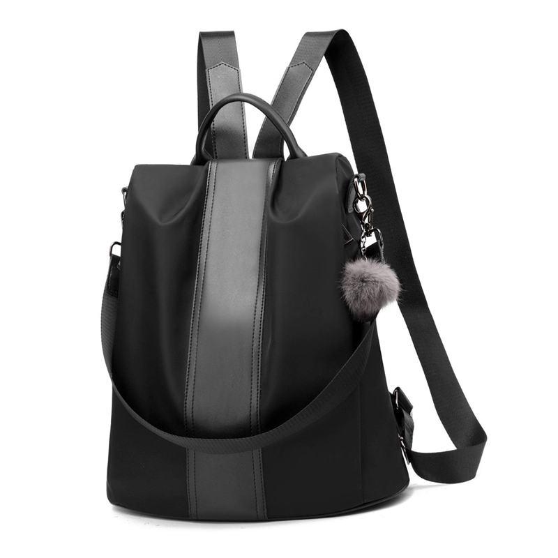 Women Backpack Purse Waterproof Anti-theft Rucksack Lightweight School Shoulder Bag Black