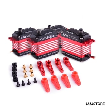 KST X20 Helicopter Brushless Servo Combo Pack X20 COMBO (Titanium Gear) 2208 x3 with 1035 x1 for 550-770 Helicopter