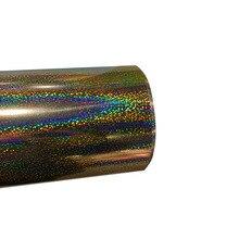 "Free shipping 1 sheet 10""x20""/25cmx100cm Laser Heat Transfer Vinyl Hologram Rainbow PVC Press Tshirt Iron On HTV Printing"