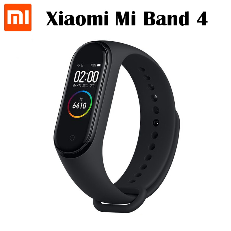 Pulsera inteligente Xiaomi Mi Band 4 Original con Bluetooth 5,0, frecuencia cardíaca, Fitness, Xiaomi band 4, Pantalla AMOLED de 0,95 pulgadas