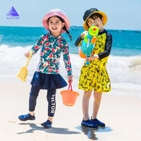 vector boys and girls new swimsuit outdoor wading snorkeling suit hot spring surfing suit mens and womens swimsuit