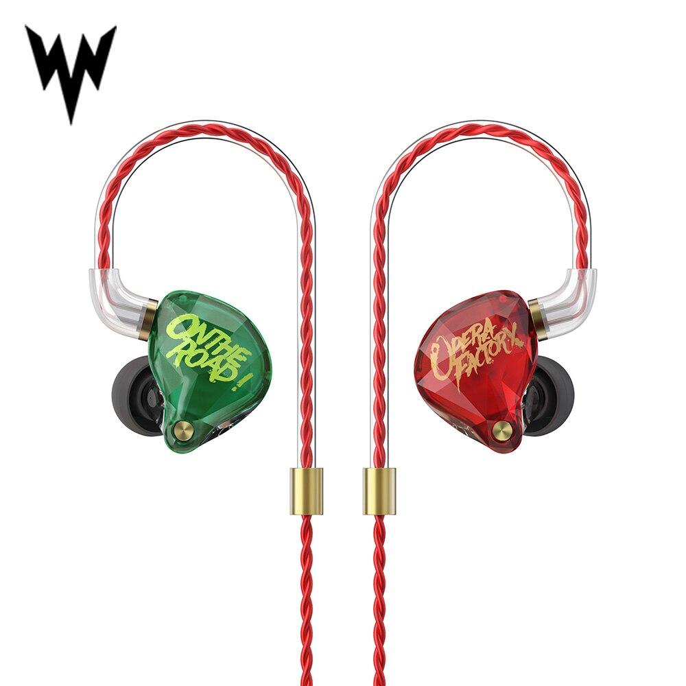 Fone de Ouvido Om1 de Áudio Opera Fábrica Diamante Baixo Super Fone Ouvido Earplug 2pin Personalizado Alta Fidelidade 3.5mm no Dinâmico Unidade dj