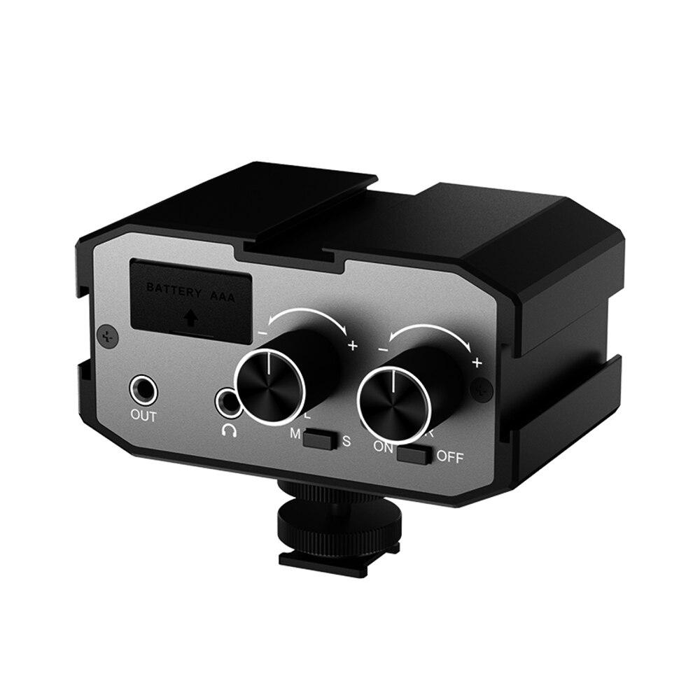Comica CVM-AX1 أحادية ستيريو الصوت خلاط محول ميكروفون ل DSLR كانون EOS T6 نيكون D3300 السياقية قنوات مكبر للصوت 3.5 مللي متر جاك