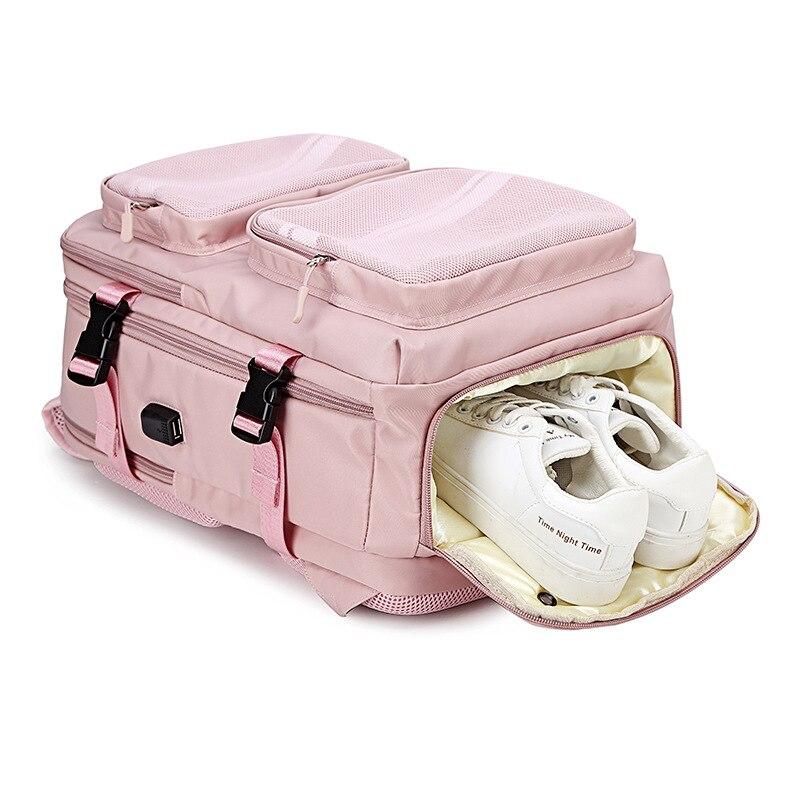 Bolsa de Sapato Mulheres Mochila Polegada Menina Carregamento Usb Portátil Anti Roubo Escola Viagem Senhoras 2021 15.6