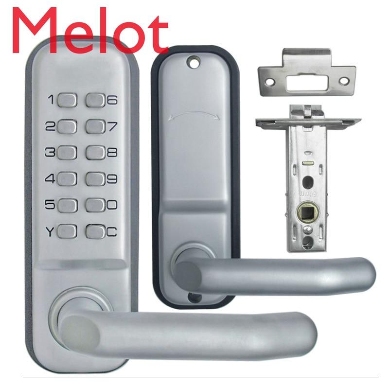 بدون مفتاح لوحة المفاتيح الميكانيكية رمز خزانة رقمية دخول المنزل الأمن السلامة قفل الباب 1715