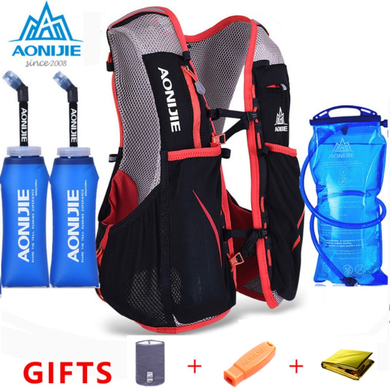 AONIJIE 5L Women Men Bag Marathon Hydration Vest Pack for 1.5L Water Bag Cycling Hiking Bag Outdoor Sport Running Backpack