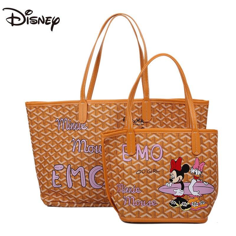 Bolsa de Ombro Bolsa de Armazenamento Disney Novos Desenhos Animados Mickey Senhora Moda Casual Grande Capacidade Multifuncional Luxo 2021