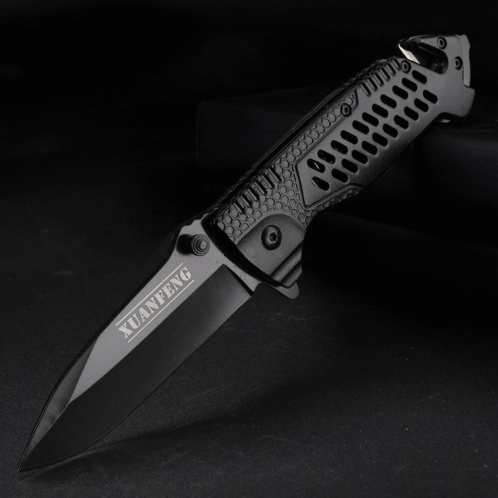 Cuchillo plegable de bolsillo FOMALHAUT, cuchillo de pelar y cortar portátil y compacto, cuchillo de herramienta de caza al aire libre